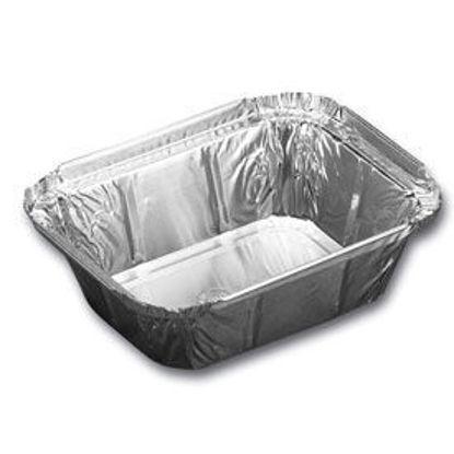 Alu rect 250 ml 100 stuks verpakken bewaren