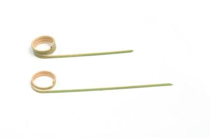 Prikker bamboe met krul 100 stuks opdienen