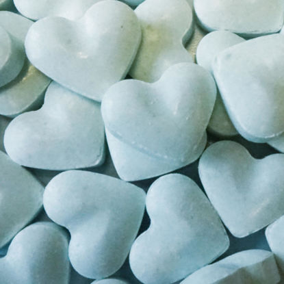 Dextrose hartjes blauw