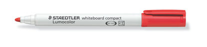 Witbordstift Staedtler lumocolor rood 1-2mm