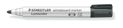 Witbordstift Staedtler lumocolor zwart 2mm