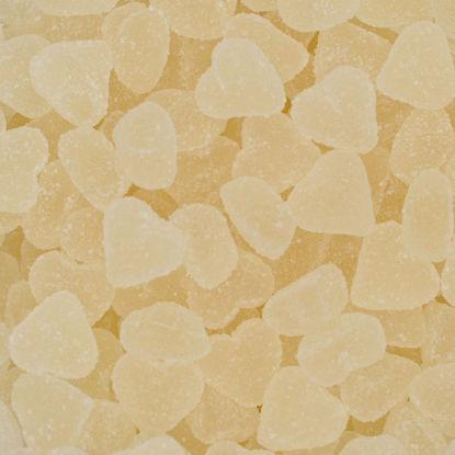 snoep witte hartjes