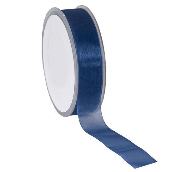lint organza donkerblauw
