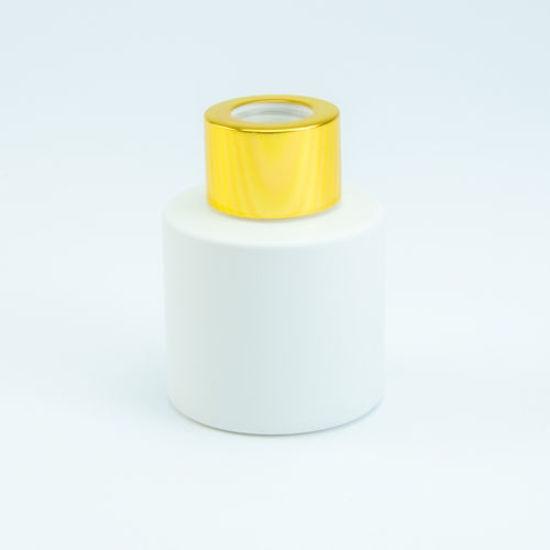 parfumflesje voor geurstokjes wit goud