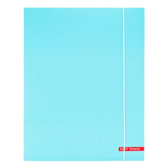 Elastomap soft touch lichtblauw