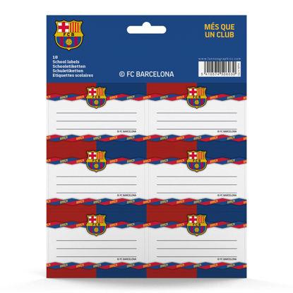 Schooletiketten FC Barcelona