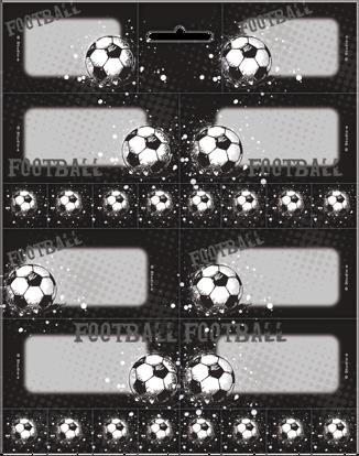 Schooletiketten voetbal