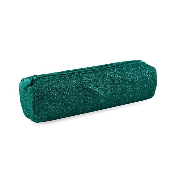 Pennenzak groen glitter