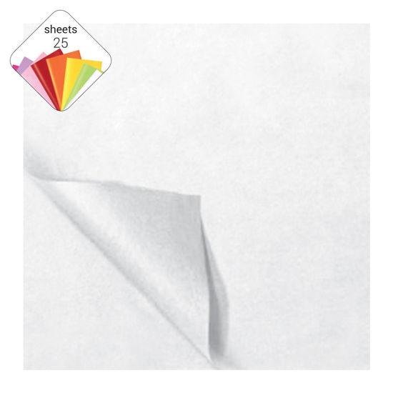 Zijdepapier 50 x 70 cm 25 vellen wit