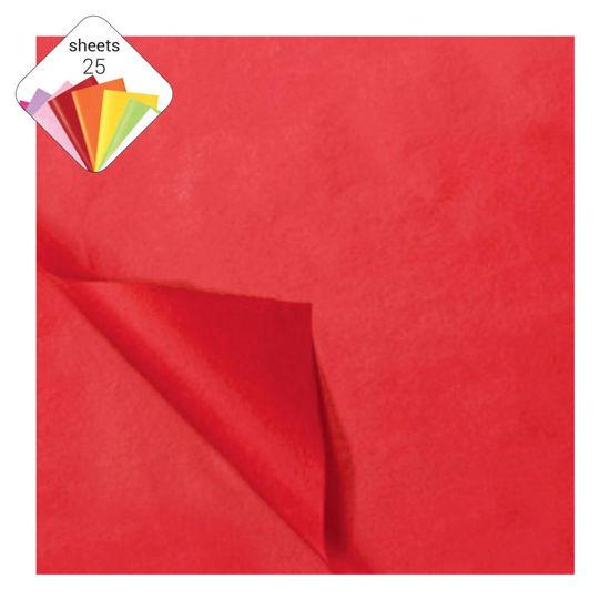 Zijdepapier 50 x 70 cm 25 vellen rood