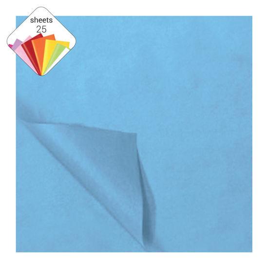 Zijdepapier 50 x 70 cm 25 vellen lichtblauw