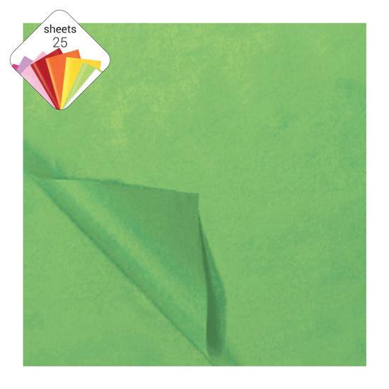Zijdepapier 50 x 70 cm 25 vellen lichtgroen