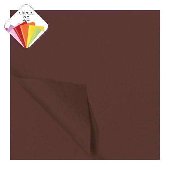 Zijdepapier 50 x 70 cm 25 vellen donkerbruin