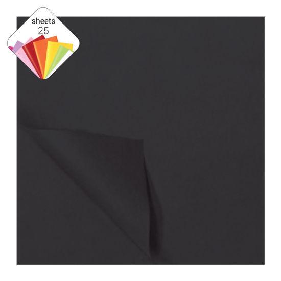 Zijdepapier 50 x 70 cm 25 vellen zwart