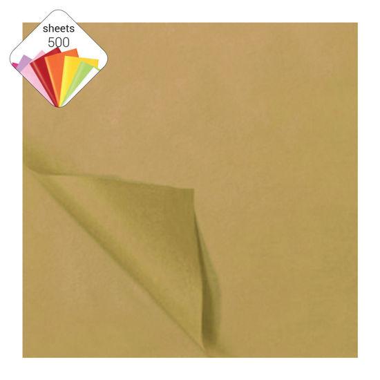 Zijdepapier 50 x 70 cm 25 vellen goud