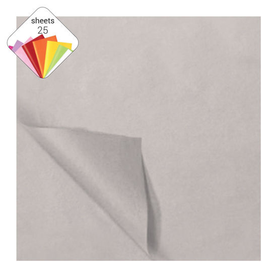 Zijdepapier 50 x 70 cm 25 vellen zilver