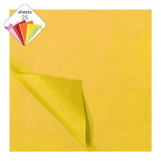 Zijdepapier 50 x 70 cm 25 vellen geel