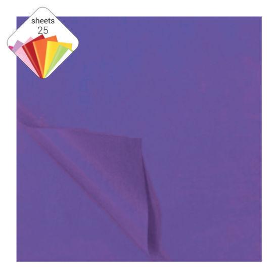Zijdepapier 50 x 70 cm 25 vellen paars