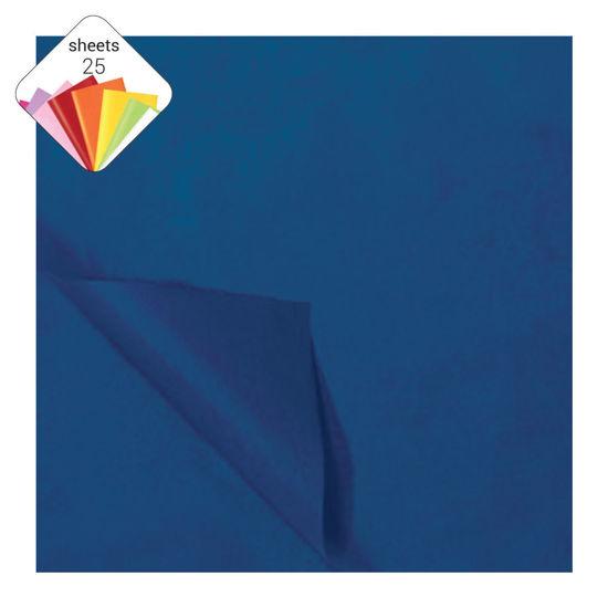 Zijdepapier 50 x 70 cm 25 vellen marineblauw