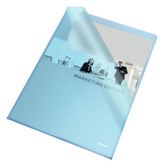 Zichtmap L-model blauw