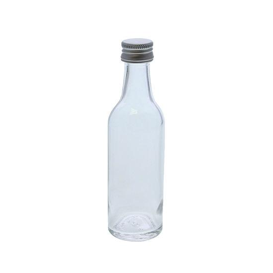 Glazen flesje rond 50 ml