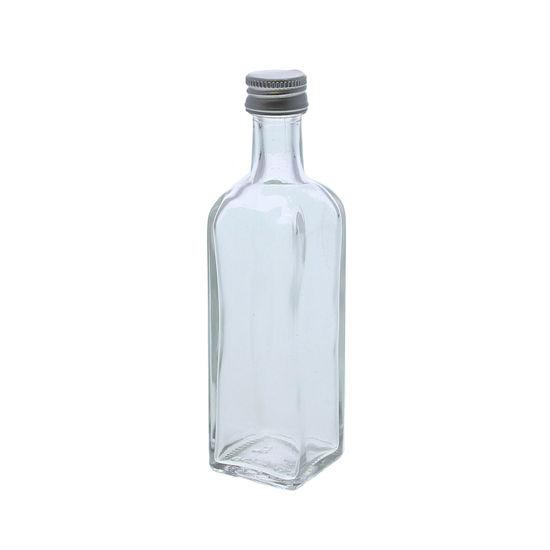 Glazen flesje vierkant 60 ml