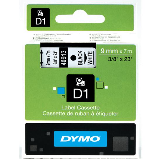Tape Dymo zwart/wit