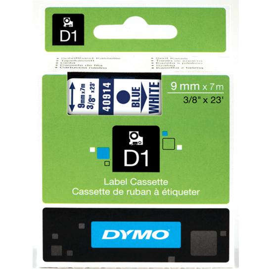 Tape Dymo blauw/wit
