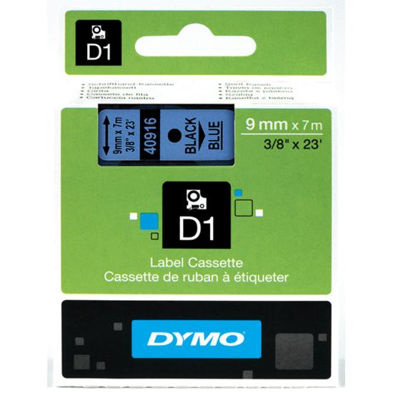 Tape Dymo zwart/blauw