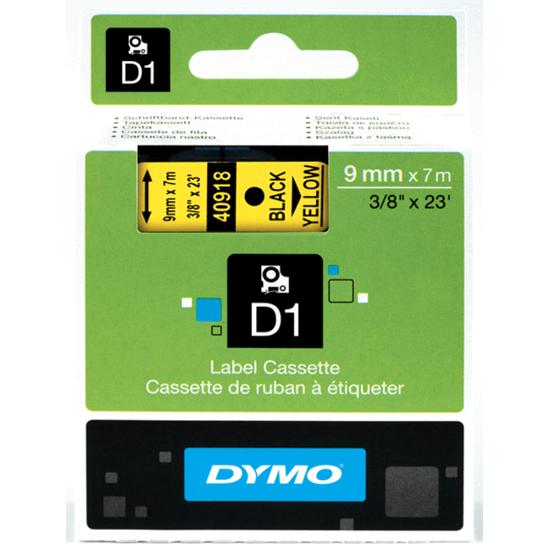 Tape Dymo zwart/geel