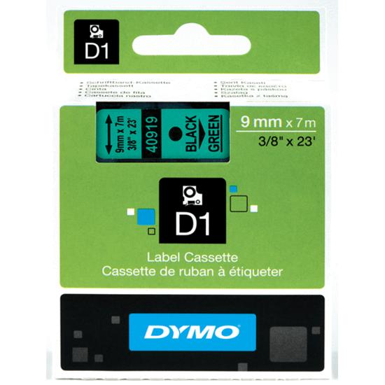Tape Dymo zwart/groen