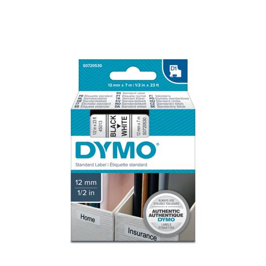 Dymo tape zwart/wit