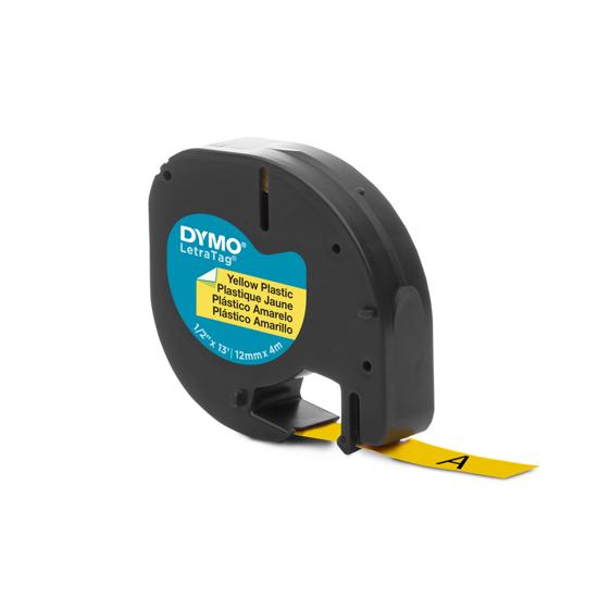Dymo tape PVC geel