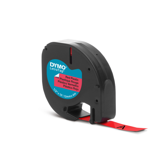 Dymo tape PVC rood