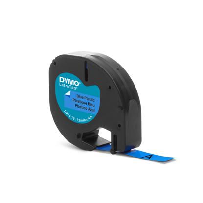 Dymo tape PVC blauw