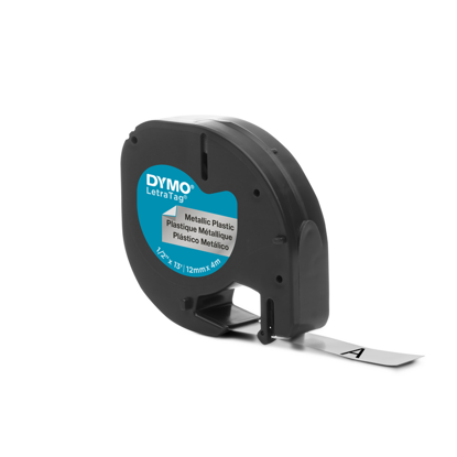 Dymo tape PVC zilver metallic