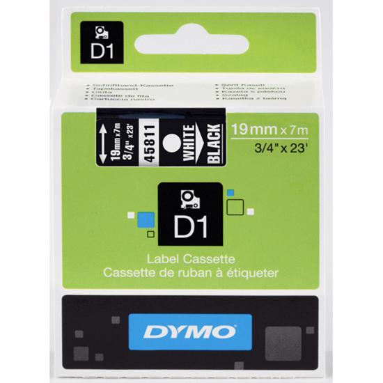 Dymo tape D1 wit/zwart
