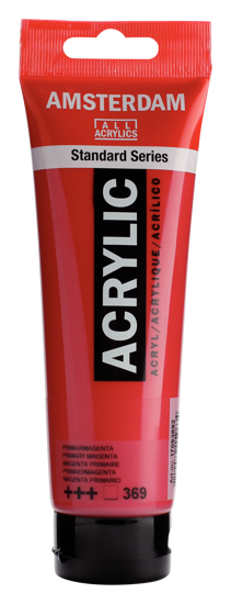 Acrylverf Talens naftolrood middel