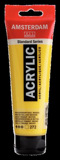 Acrylverf Talens transp. geel middel