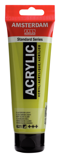 Acrylverf Talens olijfgroen licht