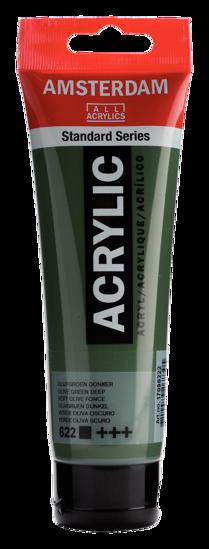 Acrylverf Talens olijfgroen donker