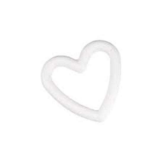 Styropor hart, doorbroken, 15 cm, piepschuim