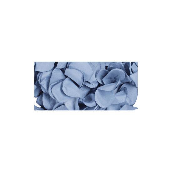 Papier-bloemblaadjes, 2,5 cm ø, licht blauw, zak 10g