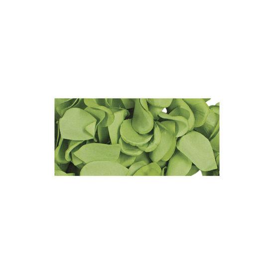 Papier-bloemblaadjes, 2,5 cm ø, licht groen, zak 10g