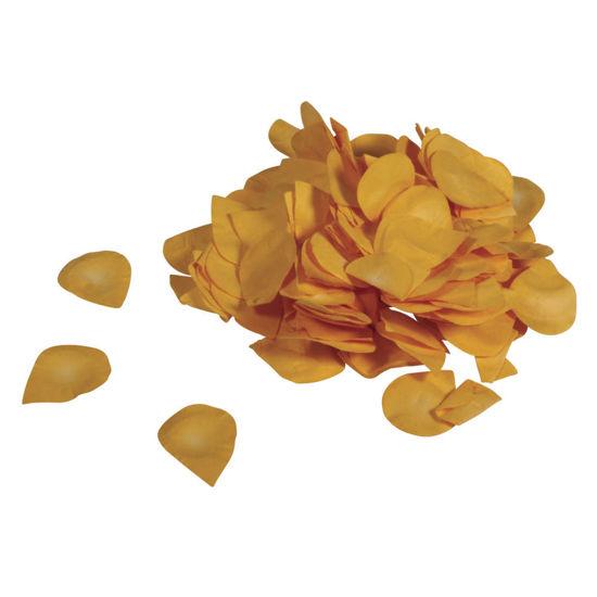 Papier-bloemblaadjes, 2,5 cm ø, geel, zak 10g