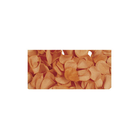 Papier-bloemblaadjes, 2,5 cm ø, oranje, zak 10g