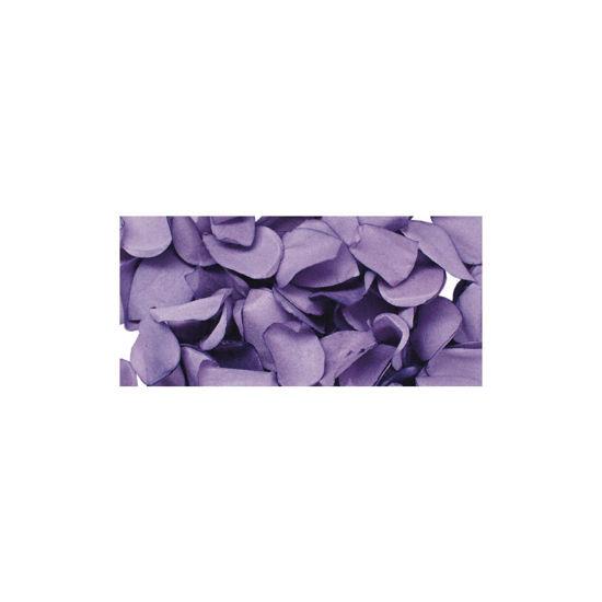 Papier-bloemblaadjes, 2,5 cm ø, lavendel, zak 10g