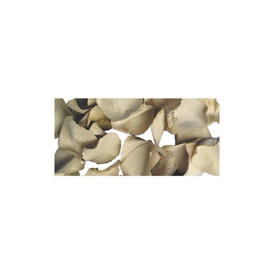 Papier-bloemblaadjes, 2,5 cm ø, naturel, zak 10g