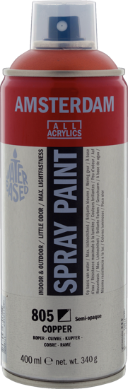 Acrylverf  spuitbus koper