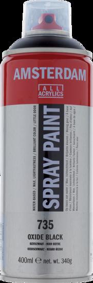 Acrylverf  spuitbus oxydzwart